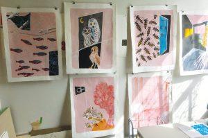 Bonnie Hull and Elizabeth Bauman: Pink Gesso/Black Gesso